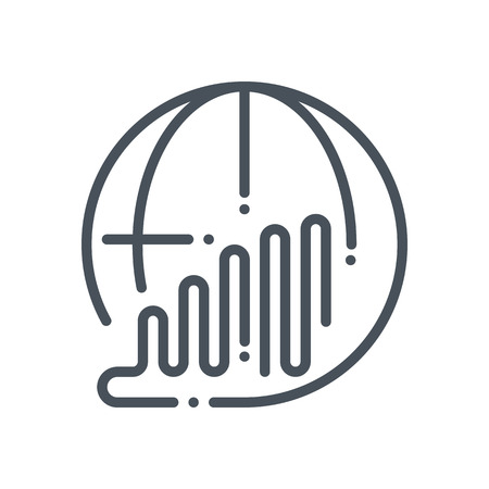 Global progress icon suitable for info graphics, websites and print media and  interfaces. Hand drawn style, line vector icon.