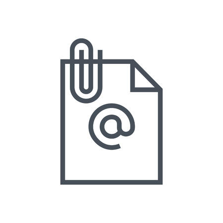 Email attachement icon suitable for info graphics, websites and print media and  interfaces. Line vector icon.