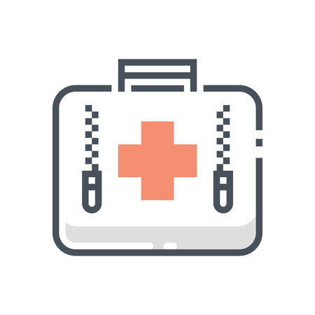 Medical kit icon suitable for info graphics, websites and print media and  interfaces. Line vector icon.