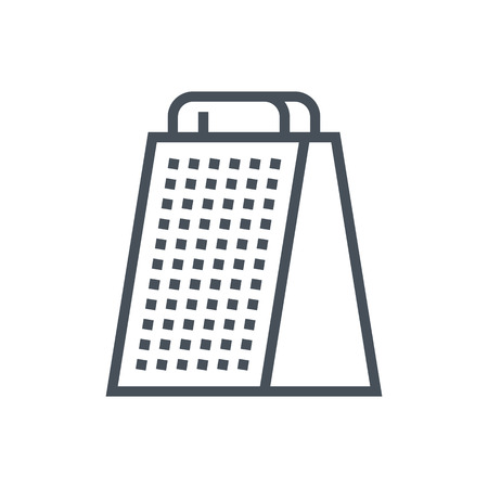Grater icon suitable for info graphics, websites and print media and  interfaces. Line vector icon. Çizim