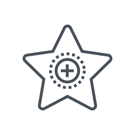 value add: Star, project features icon suitable for info graphics, websites and print media and interfaces. Line vector icon.