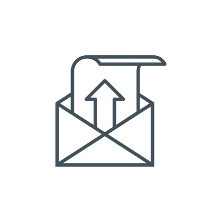 unread: Outbox, sent mail icon suitable for info graphics, websites and print media and  interfaces. Line vector icon. Illustration