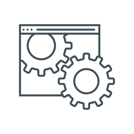 Maintenance icon suitable for info graphics, websites and print media and  interfaces. Line vector icon. 向量圖像
