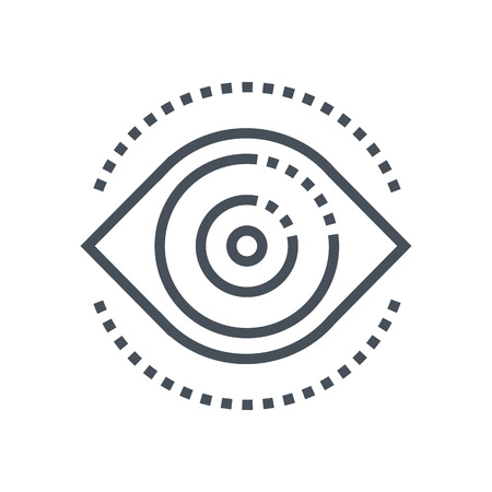 supervise: Supervise eye icon suitable for info graphics, websites and print media and  interfaces. Line vector icon. Illustration