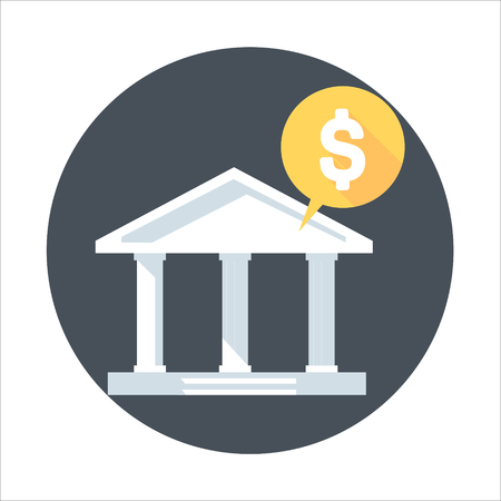 mobile banking: Banking theme, flat style, colorful, vector icon for info graphics, websites, mobile and print media.