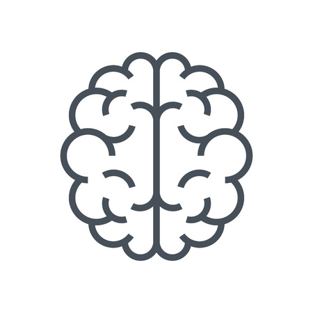 Brain icon suitable for info graphics, websites and print media and  interfaces. Line vector icon.