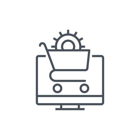 check out: Commerce optimisation icon suitable for info graphics, websites and print media and  interfaces. Line vector icon.