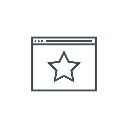 Favorite website icon suitable for info graphics, websites and print media and  interfaces. Line vector icon. 向量圖像