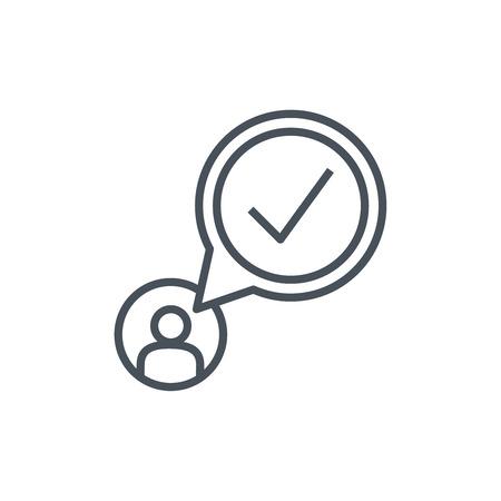 confirmacion: icono de confirmación adecuado para información de gráficos, páginas web y medios impresos. vector de colorido, icono plana, clip art. Vectores