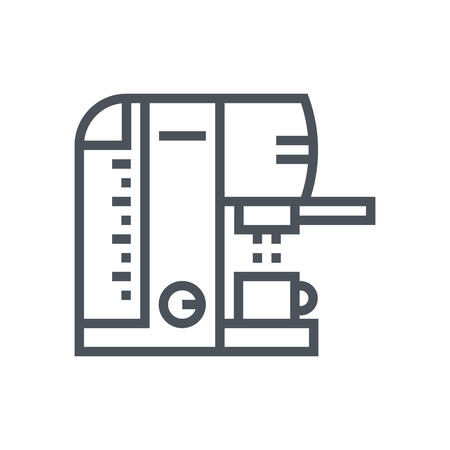 Coffee icon suitable for info graphics, websites and print media and  interfaces. Line vector icon. 向量圖像