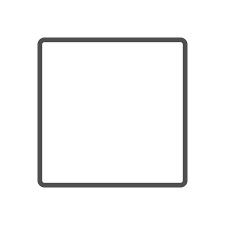 radio button: Empty box, radio button icon suitable for info graphics, websites and print media and  interfaces. Line vector icon.