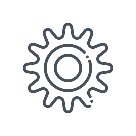 Gear icon suitable for info graphics, websites and print media and  interfaces. Hand drawn style, line vector icon. Illustration