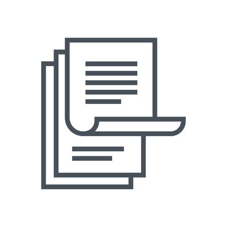 icône appropriée pour informations graphiques, sites Web et des supports d'impression et interfaces Paperasserie. Ligne icône vecteur.