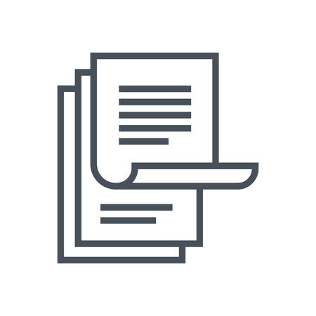 Paperwork icon suitable for info graphics, websites and print media and  interfaces. Line vector icon.