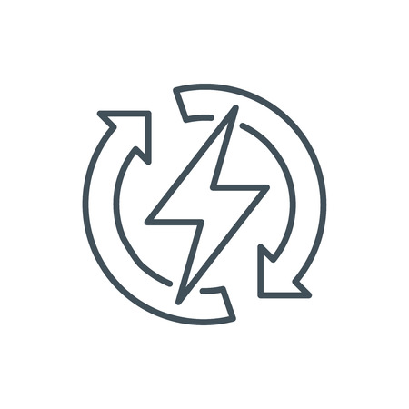 Renewable energy icon suitable for info graphics, websites and print media and  interfaces. Line vector icon.