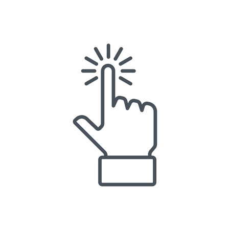 multi finger: Multi touch, hand, finger, gesture icon suitable for info graphics, websites and print media and interfaces. Line vector icon.