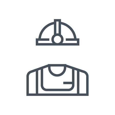 Industry worker icon suitable for info graphics, websites and print media and  interfaces. Line vector icon. Stock Illustratie