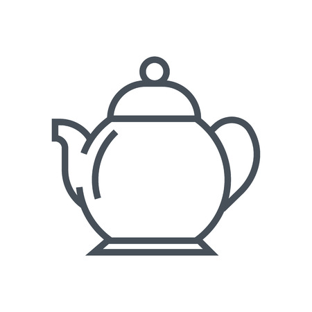 Tea pot icon suitable for info graphics, websites and print media and  interfaces. Line vector icon. Ilustrace