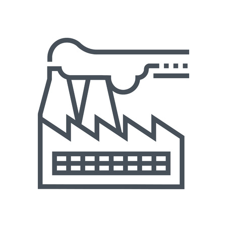 Factory icon suitable for info graphics, websites and print media and  interfaces. Line vector icon. Illustration