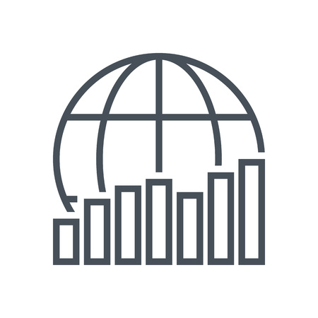 Global progress icon suitable for info graphics, websites and print media and  interfaces. Line vector icon.