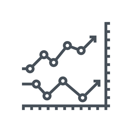 Initial public offer icon suitable for info graphics, websites and print media and  interfaces. Line vector icon. Illustration