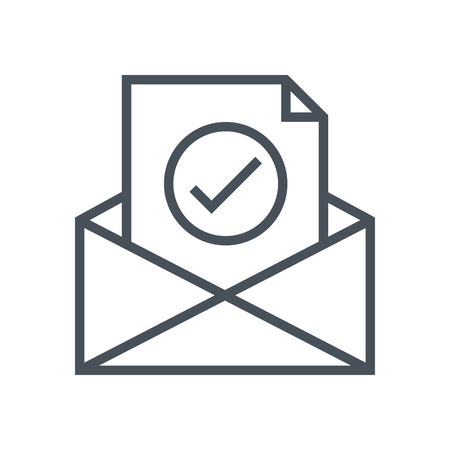 unread: Inbox, receive mail icon suitable for info graphics, websites and print media and  interfaces. Line vector icon.