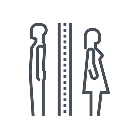 Divorce icon suitable for info graphics, websites and print media and  interfaces. Line vector icon. Human face, head, line vector icon.