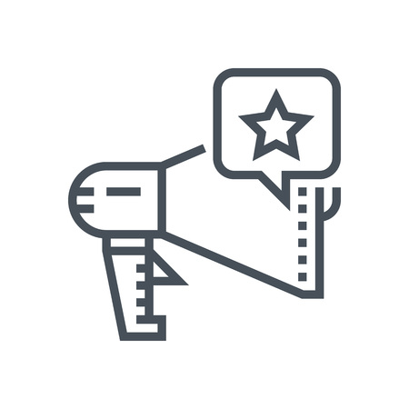 Megaphone, marketing tools icon suitable for info graphics, websites and print media and  interfaces. Line vector icon.