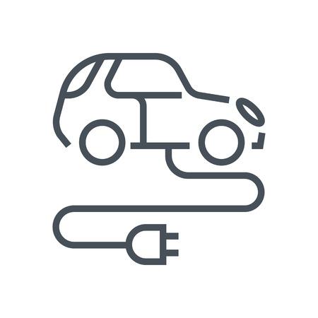 Electric, Grüne Energie Auto-Symbol Für Info-Grafiken, Webseiten Und ...