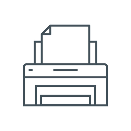 Printer icon suitable for info graphics, websites and print media and  interfaces. Line vector icon. Illustration