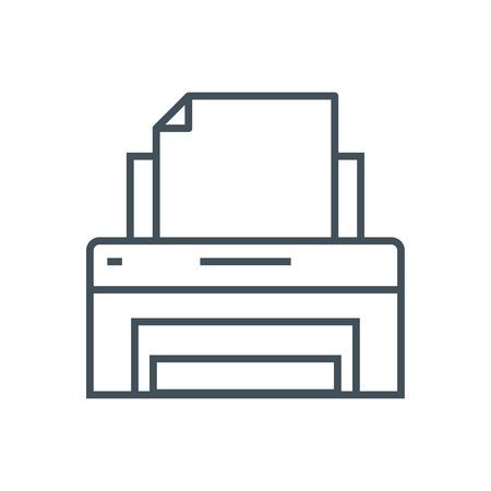 Symbol Drucker geeignet für Info-Grafiken, Webseiten und Printmedien und Schnittstellen. Line-Vektor-Symbol. Standard-Bild - 55951850