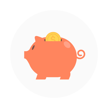 print media: Savings Flat style colorful, vector icon for info graphics, websites, mobile and print media.