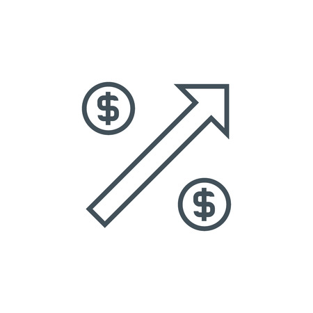 minimum wage: Increase icon suitable for info graphics, websites and print media. Vector icon.