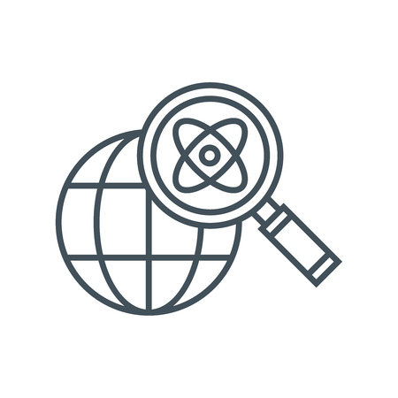 energy market: Energy research icon suitable for info graphics, websites and print media and  interfaces. Line vector icon.
