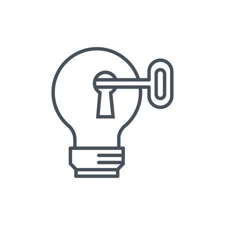 정보 그래픽, 웹 사이트 및 인쇄 매체 및 인터페이스에 적합한 스마트 아이디어 아이콘. 라인 벡터 아이콘입니다.