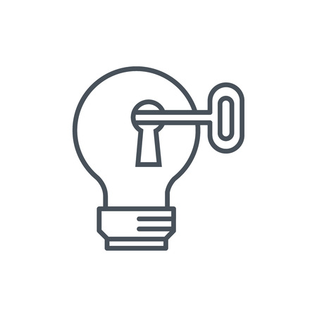 smart: Smart idea icon suitable for info graphics, websites and print media and  interfaces. Line vector icon.