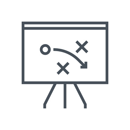 playing the market: Strategy, tactics icon suitable for info graphics, websites and print media and  interfaces. Line vector icon.