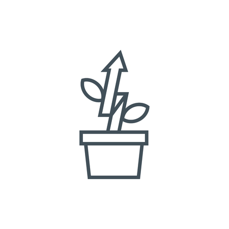 Growth icon suitable for info graphics, websites and print media. Vector icon.
