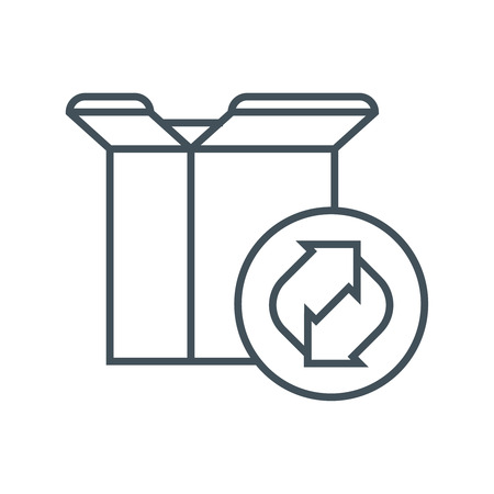 Recycling cardboard box icon suitable for info graphics, websites and print media and  interfaces. Line vector icon.