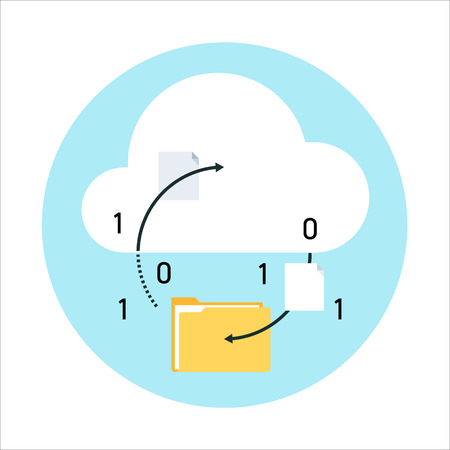 Cloud computing theme, flat style, colorful, vector icon for info graphics, websites, mobile and print media.