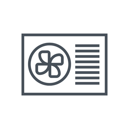 air conditioner: Air conditioner icon suitable for info graphics, websites and print media and  interfaces. Line vector icon.