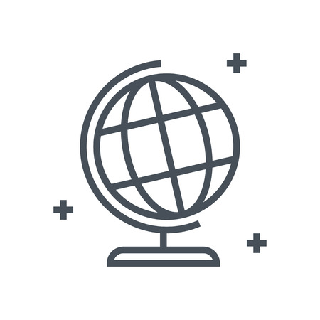 geography: Geography, globe icon suitable for info graphics, websites and print media and  interfaces. Line vector icon. Illustration