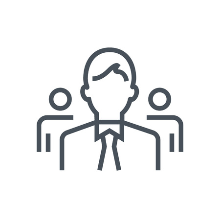 Team leader icon suitable for info graphics, websites and print media and  interfaces. Line vector icon.