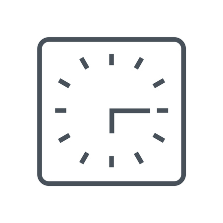 flexible business: Clock icon suitable for info graphics, websites and print media and  interfaces. Line vector icon. Illustration