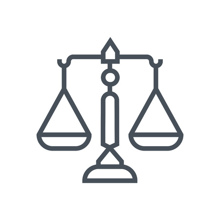 Scales of justice icon suitable for info graphics, websites and print media and  interfaces. Line vector icon.