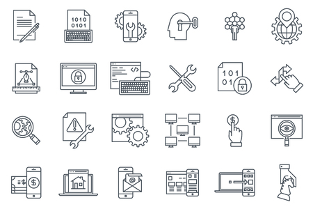 hyperlink: Transfer, synchronize icon set suitable for info graphics, websites and print media and  interfaces. Line vector icon set. Illustration