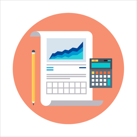 Statistics, report theme, flat style, colorful, vector icon for info graphics, websites, mobile and print media.