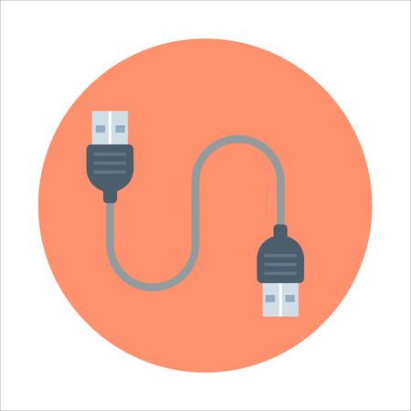 plug in: Plug in theme, flat style, colorful, vector icon for info graphics, websites, mobile and print media.