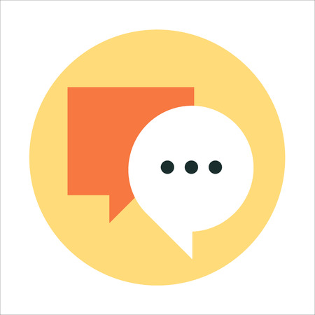 Chat theme, flat style, colorful, vector icon for info graphics, websites, mobile and print media.