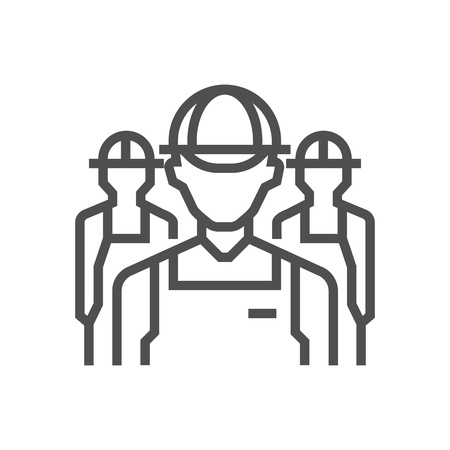 Workers icon suitable for info graphics, websites and print media and interfaces. Line vector icon.